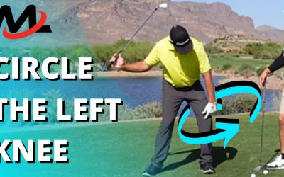 Circle the Left Knee in the Downswing to Turn on the Rotation