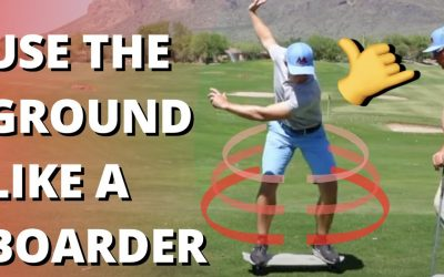 Reflex In Your Golf Swing Like A BOARDER   Turn Ground Force Into Rotation   Athletics Series