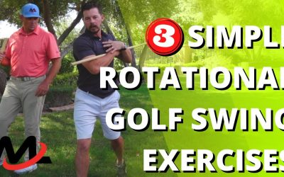3 Simple Rotational Golf Swing Exercises   Academy And TPI Fitness Coach Zach Trains Milo
