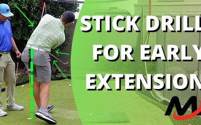 Alignment Stick Golf Drill To Fix Early Extension And Get Hips Deeper